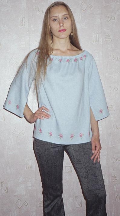 Как сшить блузку своими руками из льна 94